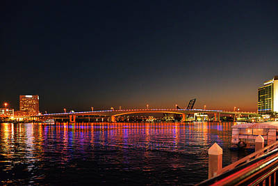 Blue Photograph - Jacksonville Acosta Bridge by Christine Till