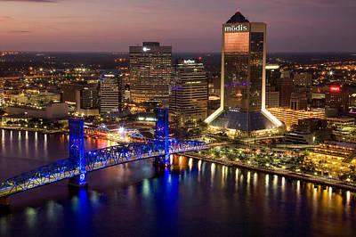 Jacksonville Aerial I Art Print