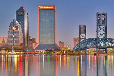 Dazzling Days Photograph - Jacksonville Alight At Daybreak by Frozen in Time Fine Art Photography