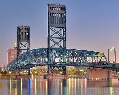 Photograph - Jacksonville Blue Bridge by Frozen in Time Fine Art Photography