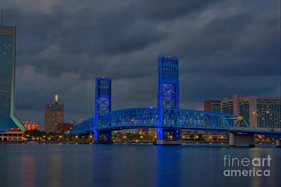 Jacksonville Blue Bridge Hdr Art Print