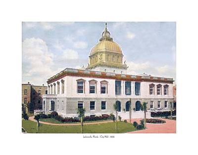City Hall Digital Art - Jacksonville Florida - Jacksonville City Hall - 1906 by John Madison