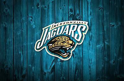 Athletes Mixed Media - Jacksonville Jaguars Barn Door by Dan Sproul