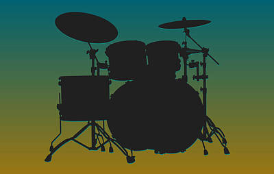 Jacksonville Jaguars Drum Set Print by Joe Hamilton