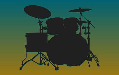 Jacksonville Jaguars Drum Set Art Print by Joe Hamilton