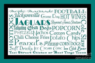 Jacksonville Jaguars Game Day Food 2 Art Print by Andee Design