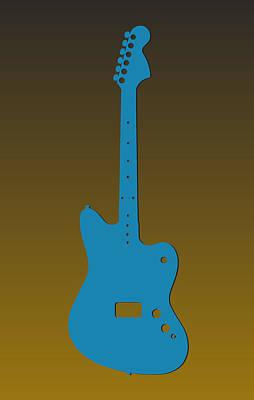 Jacksonville Jaguars Guitar Art Print by Joe Hamilton