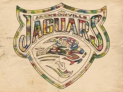 Painting - Jacksonville Jaguars Poster Art by Florian Rodarte