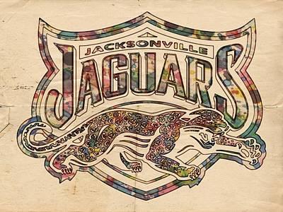 Painting - Jacksonville Jaguars Poster Vintage by Florian Rodarte