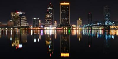 Photograph - Jacksonville Night Panorama by Frozen in Time Fine Art Photography