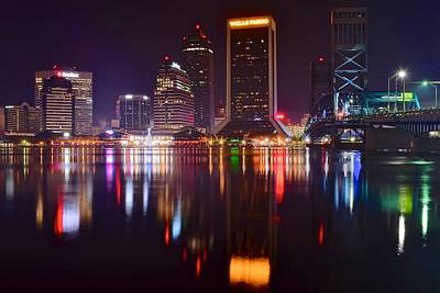 Photograph - Jacksonville Nightlife by Frozen in Time Fine Art Photography