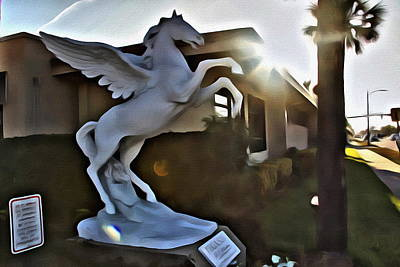 Photograph - Jacksonville Pegasus by Alice Gipson