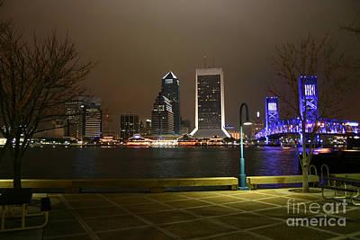 Jacksonville Riverwalk Night Art Print