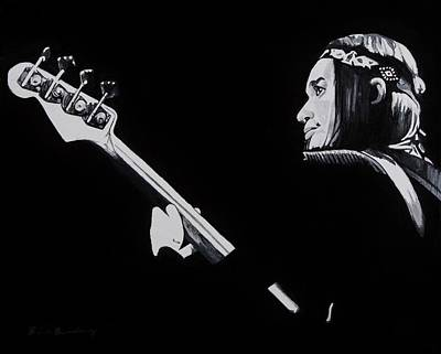 Bassist Painting - Jaco by Brian Broadway