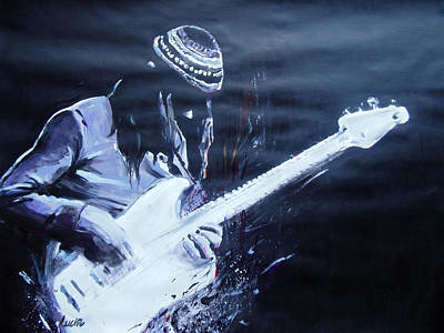 Jaco Painting - Jaco Pastorius by Lucia Hoogervorst