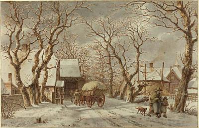 Jacob Cats Dutch, 1741 - 1799, Winter Scene Art Print by Quint Lox