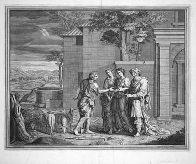 Jacob Complains To Laban Art Print by Nicolas Poussin