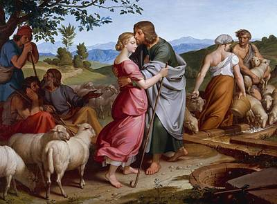 Chordata Painting - Jacob Meeting Rachel by Joseph von Fuhrich