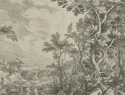 Jacob Rotates The Stone Pit Print by Claes Jansz. Visscher (ii) And Nicolaes Visscher Jan Van Londerseel (i)