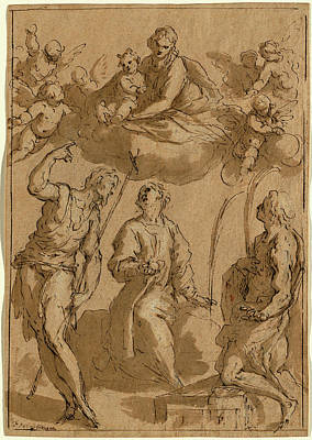 Wash Drawing - Jacopo Palma Il Giovane, Italian 1544 Or 1548-1628 by Litz Collection