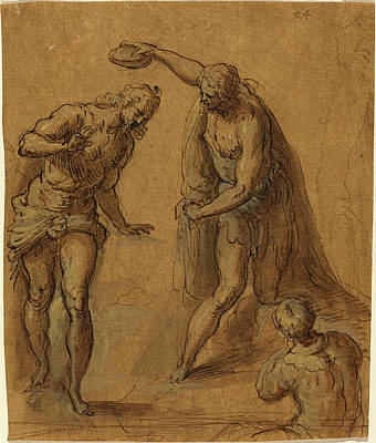 Wash Drawing - Jacopo Palma Il Giovane Italian, 1544 Or 1548 - 1628 by Quint Lox