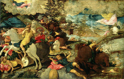 Conversion Painting - Jacopo Tintoretto, Italian 1518-1594, The Conversion by Litz Collection