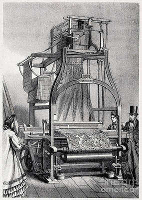 Photograph - Jacquard Loom For Weaving Textiles by Wellcome Images