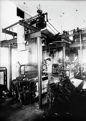 Palestine Photograph - Jacquard Loom In Palestine by Library Of Congress