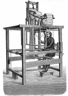 Loom Photograph - Jacquard Loom by Universal History Archive/uig