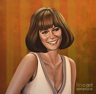 Jacqueline Bisset Painting Art Print by Paul Meijering
