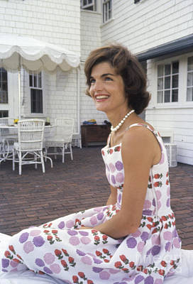 Jacqueline Kennedy At Hyannis Port 1959 Art Print by The Harrington Collection
