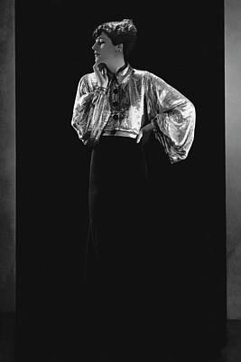 Jacqueline Quesnel Wearing Lanvin Art Print by Horst P. Horst