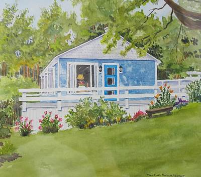 Painting - Jacques And Colette's Cottage by Mary Ellen Mueller Legault
