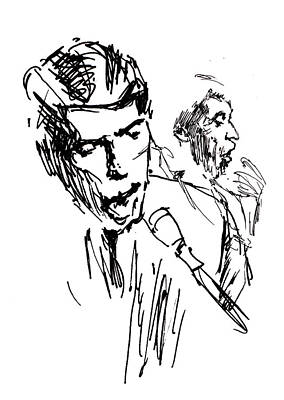 Jacques Drawing - Jacques Brel by Miki de Goodaboom