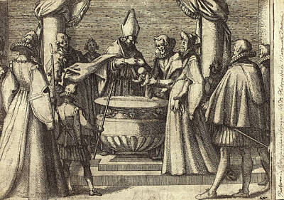 Baptism Drawing - Jacques Callot French, 1592 - 1635, Baptism Of The Prince by Quint Lox