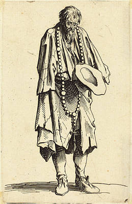 Jacques Callot French, 1592 - 1635, Beggar With Rosary Art Print by Quint Lox
