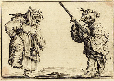 Lute Drawing - Jacques Callot French, 1592 - 1635, Dancers With Lute by Quint Lox