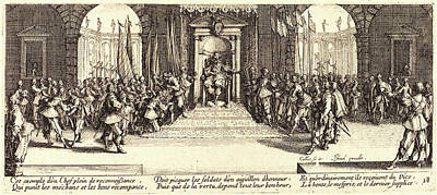 Jacques Callot, French 1592-1635, Distribution Of Rewards Art Print by Litz Collection