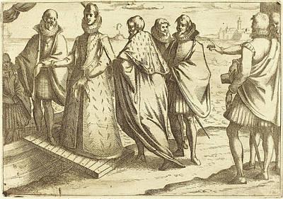 Genoa Drawing - Jacques Callot French, 1592 - 1635, Embarkation At Genoa by Quint Lox