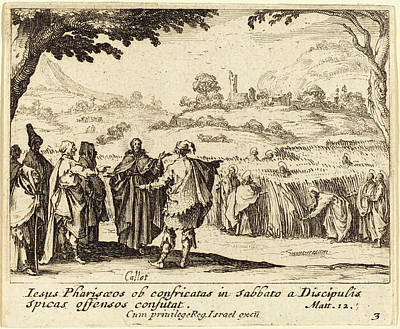 Jesus Drawing - Jacques Callot French, 1592 - 1635, Jesus With The Pharisees by Quint Lox