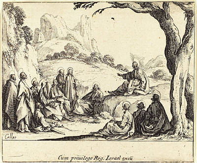 Sermon Drawing - Jacques Callot French, 1592 - 1635, Sermon On The Mount by Quint Lox