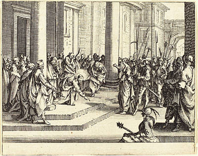 Jesus Drawing - Jacques Callot French, 1592 - 1635, Stoning Of Jesus by Quint Lox