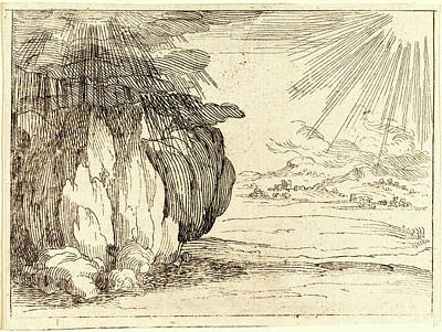 Rain Drawing - Jacques Callot, French 1592-1635, Sun And Rain by Litz Collection