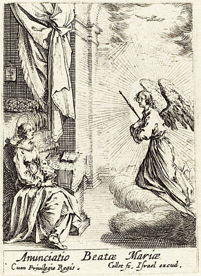 Annunciation Drawing - Jacques Callot French, 1592 - 1635, The Annunciation by Quint Lox