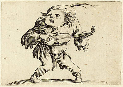 Jacques Callot French, 1592 - 1635, The Guitar Player Art Print