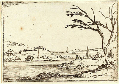 Jacques Callot, French 1592-1635, The Nile Flooding Art Print by Litz Collection
