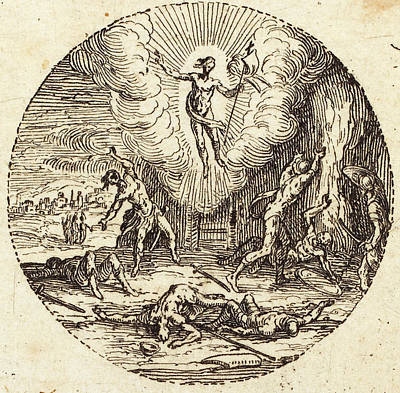 Resurrection Drawing - Jacques Callot French, 1592 - 1635, The Resurrection by Quint Lox