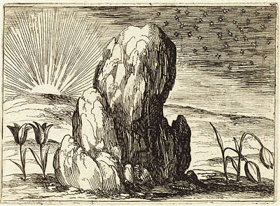 Tulips Drawing - Jacques Callot French, 1592 - 1635, The Tulips And The Sun by Quint Lox