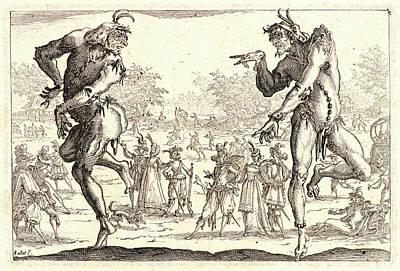 Jacques Callot French, 1592 - 1635. The Two Pantaloons Les Art Print
