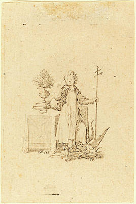 Jesus Drawing - Jacques Callot, French 1592-1635, The Young Jesus by Litz Collection